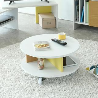 開店記念セール◆ハッピーカラーでお部屋を彩る!キャスター付きの便利な丸テーブル(ローテーブル)