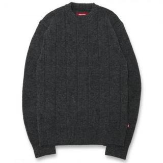 ハイドアンドシーク(HIDE AND SEEK)のHIDE AND SEEK ハイドアンドシーク ニット セーター グレー M(ニット/セーター)