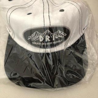 DRT 6パネルキャップ ホワイト 白 新品 帽子 キャップ タイニークラッシュ(ウエア)