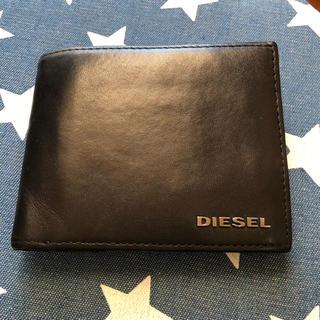 ディーゼル(DIESEL)のDIESELディーゼル 二つ折り財布 ブラック(内側迷彩)(折り財布)