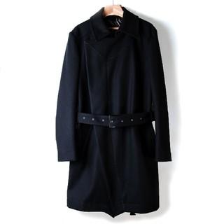 トムレヴェル(TOM REBL)のTOM REBL トム レベル メンズ ウール トレンチ コート 48 M 黒(トレンチコート)