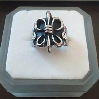 ユリの紋章モチーフ シルバーリング 大きい サイズ(リング(指輪))