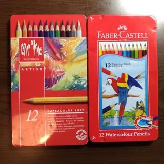 カランダッシュ(CARAN d'ACHE)のCaran D'ache Faber Castell色鉛筆12色ケース2箱セット(色鉛筆 )
