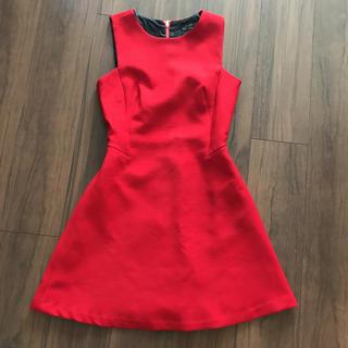 ザラ(ZARA)のZARA 赤ドレス(ミニドレス)