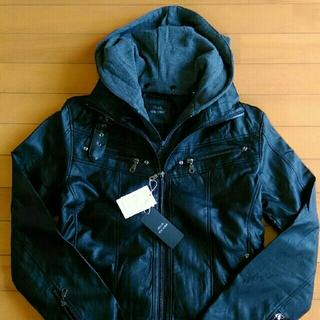 TETE HOMME - TETE HOMME テットオム ライダースジャケット ブラック サイズ M