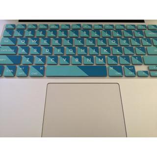 MacBookAir, MacBookPro用USキーボードカバー(ブルー)(ノートPC)