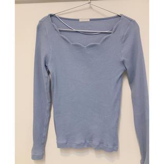 ジーユー(GU)のGU リブスカラップネックT(Tシャツ(長袖/七分))