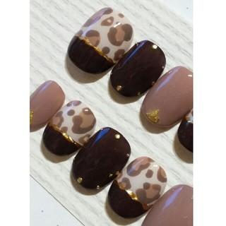 ブラウン×チョコレート×レオパード