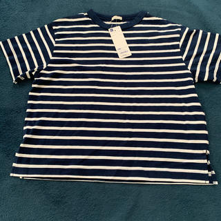 GU - GU ボーダービッグTシャツ 半袖 140cm