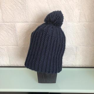 ザラ(ZARA)のZARA ニット帽 ネイビー Mサイズ(ニット帽/ビーニー)