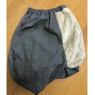 ゴム(gomme)のgomme ミックスツイストスカート(ひざ丈スカート)