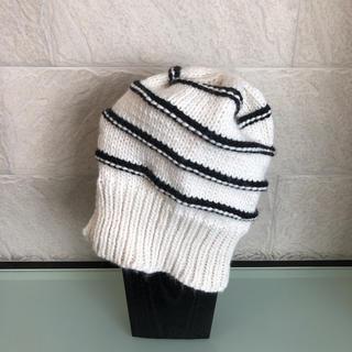 ザラ(ZARA)の【未使用】ZARA ニット帽 ボーダー Mサイズ(ニット帽/ビーニー)