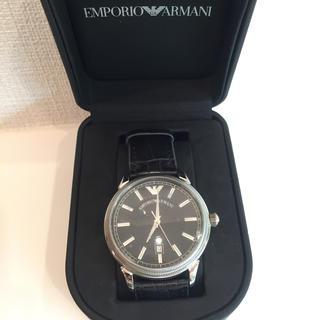 エンポリオアルマーニ(Emporio Armani)の【美品】EMPORIO エンポリオアルマーニ 腕時計(レザーベルト)