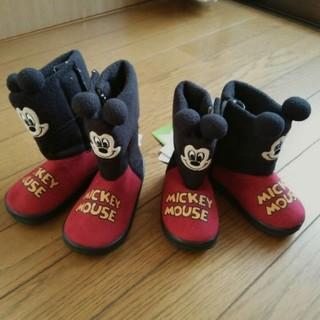 ディズニー(Disney)のミッキーのブーツ 2足セット(ブーツ)