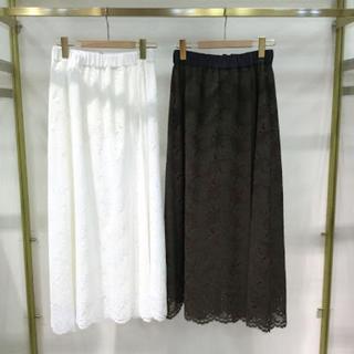 アウィーエフ(AuieF)の新品☆Auief☆レースマキシスカート(ロングスカート)