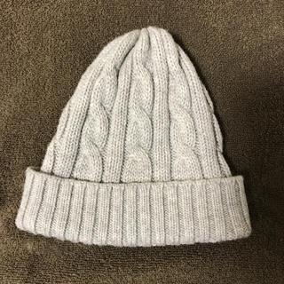 ムジルシリョウヒン(MUJI (無印良品))の無印良品 ニット帽 ライトグレー(ニット帽/ビーニー)