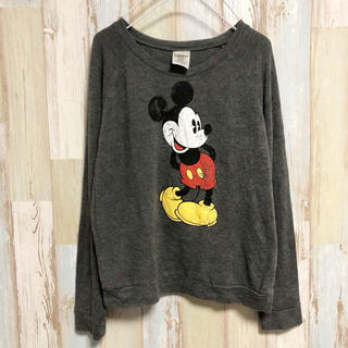 ディズニー(Disney)の【送料込み】【フォロー割】アメリカ古着 長袖Tシャツ ディズニー ミッキー(Tシャツ(長袖/七分))