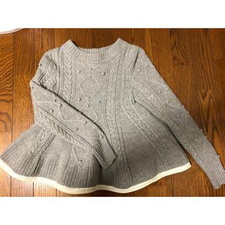 サカイラック(sacai luck)の【値下げ】sacai luck サカイラック フリルニット セーター カットソー(ニット/セーター)