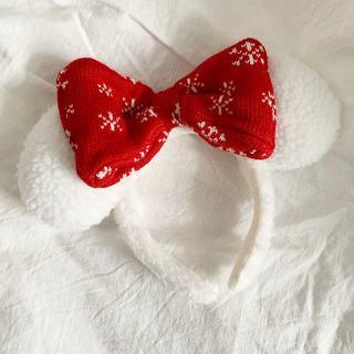 ディズニー(Disney)のカチューシャ ミニーマウス スノースノー ディズニー・クリスマス 35周年(その他)