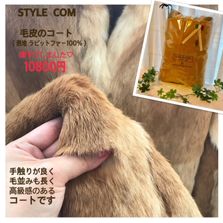 スタイルコム(Style com)のSTYLE COM  毛皮のコート(表地ラビットファー100%)(毛皮/ファーコート)