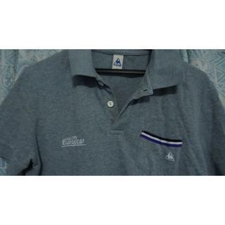 ルコックスポルティフ(le coq sportif)の選手使用品 ヨーロッパカー チームポロシャツ Sサイズ(ウエア)