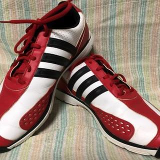 アディダス(adidas)の手渡し対応可 アディダス adidas ゴルフシューズ  レッド 27.5cm(シューズ)