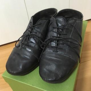 パドカレ(pas de calais)のパドカレpas de calaisレースアップシューズ黒(ローファー/革靴)