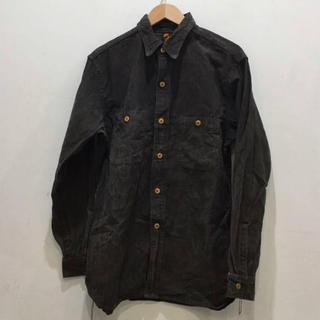シュガーケーン(Sugar Cane)のSUGAR CANE シュガーケーン ワークシャツ ブラック サイズL(シャツ)