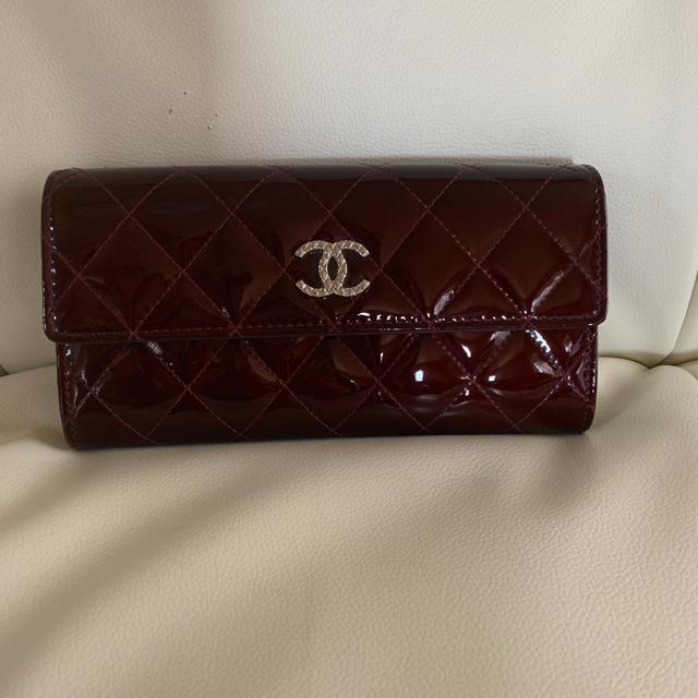 764ff200a314 CHANEL(シャネル)のシャネル ブリリアント長財布 ボルドー レディースのファッション小物(財布