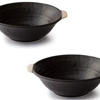 ★萬古焼 in the mood ラーメン鉢土鍋 ×2 直火で調理できます 無印(食器)