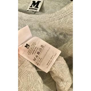 ミッソーニ(MISSONI)のミッソーニ シャカシャカニット+ ブルー半袖ニット  2枚  専用です。(ニット/セーター)