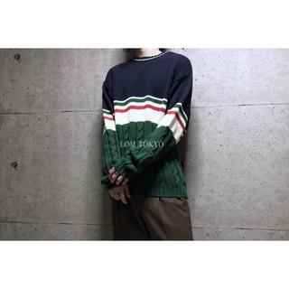 [used]'FILA'Switching design cotton knit(ニット/セーター)