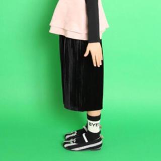 ユニカ(UNICA)の新品タグ付♡ユニカ UNICA ベロア プリーツパンツ 110(パンツ/スパッツ)