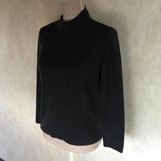 コルディア(CORDIER)の★CORDIER/コルディア★極美品★ハイネック!シンプルな長袖セーター40(ニット/セーター)