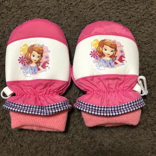 ディズニー(Disney)のソフィア スノーグローブ 手袋 3〜4歳(手袋)