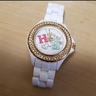 ハニーサロンバイフォピッシュ(honey salon by foppish)のHoney Salon by foppish☆腕時計☆ホワイト/ストーン/クマ(腕時計)