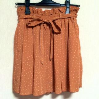 ローリーズファーム(LOWRYS FARM)のローリーズ*オレンジ*ドットスカート(ミニスカート)