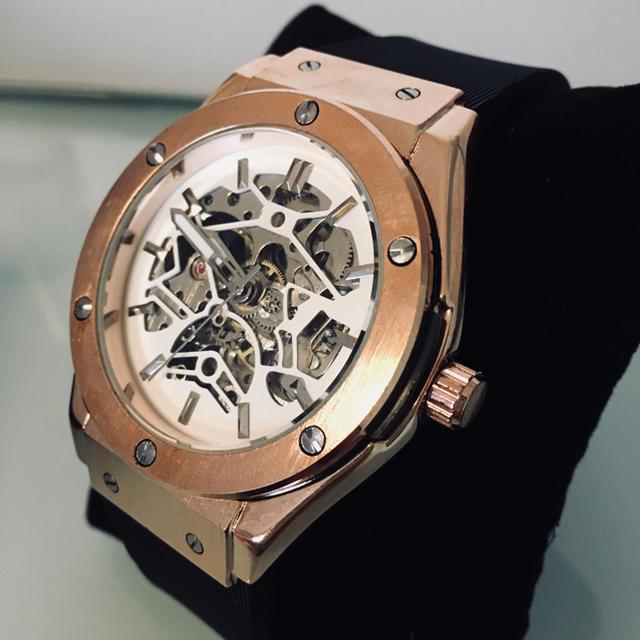 a59ef35a2d HUBLOT好きにおススメ!!腕時計 機械式 高級腕時計 ホワイト!の通販 by ...