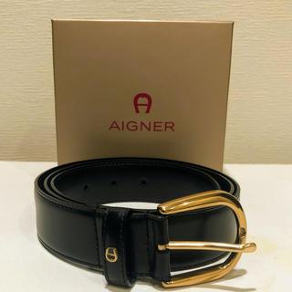 アイグナー(AIGNER)のAIGNER  アイグナー 本革ベルト 黒 美品(ベルト)