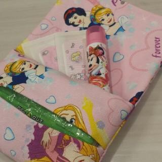 ディズニー(Disney)の♡ポケット付ミニティッシュケース♡ティッシュカバー プリンセス 子供用 キッズ用(その他)