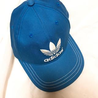 アディダス(adidas)のアディダス  キャップ ブルー(キャップ)