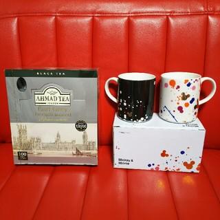 フランフラン(Francfranc)のAHMAD TEA デカフェアールグレイ(2g×100pc) &ペアマグカップ(マグカップ)