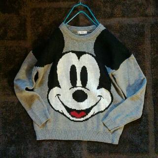ディズニー(Disney)のミッキー ビックフェイス ニット セーター(ニット/セーター)