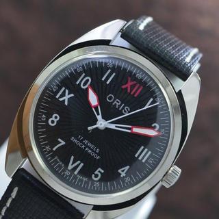 オリス(ORIS)のORIS オリス ブラックフェイス手巻き腕時計(腕時計(アナログ))