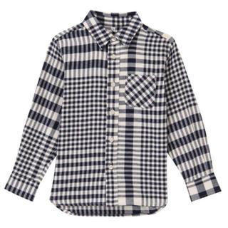 ムジルシリョウヒン(MUJI (無印良品))の新品 無印良品 フランネルチェックシャツ 130(ブラウス)