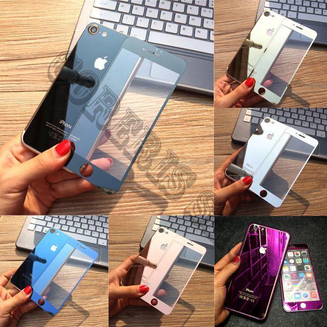 iphone 7 ケース おすすめ  ss | アルミバンパーケース/(前後)鏡面強化ガラス保護フィルムの通販 by 菜穂美@プロフ要重要|ラクマ