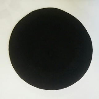 アースミュージックアンドエコロジー(earth music & ecology)のearth ベレー帽 ブラック(ハンチング/ベレー帽)