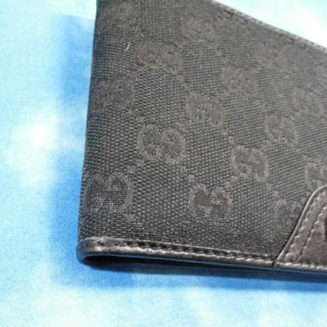 24385daaa8f5 Gucci - ☆正規品 グッチ 財布 二つ折り GG ブラック 超美品の通販 by ...