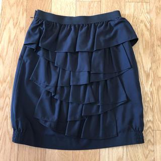 カリアング(kariang)の美品☆DreAng バックシャンスカート 黒 sサイズ(ミニスカート)