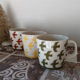 ハサミ(HASAMI)のマグカップ 3個セット 波佐見焼き かわいい 千鳥柄(食器)